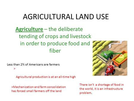 different types of agriculture in the world
