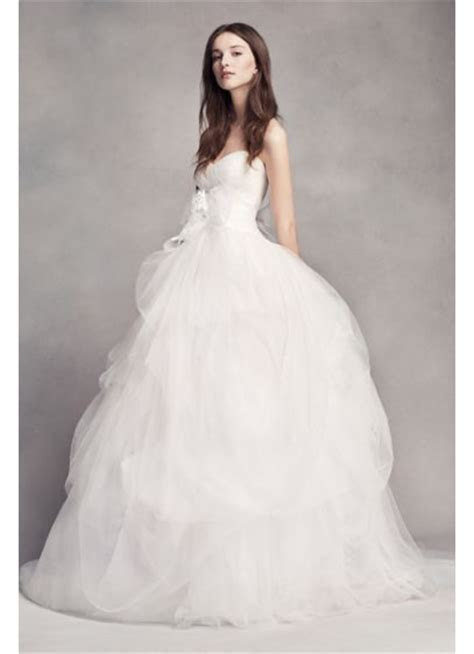 White by Vera Wang Hand Draped Tulle Wedding Dress