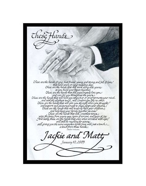 """""""These Hands"""" Poem for Celtic Handfasting Ritual .this"""
