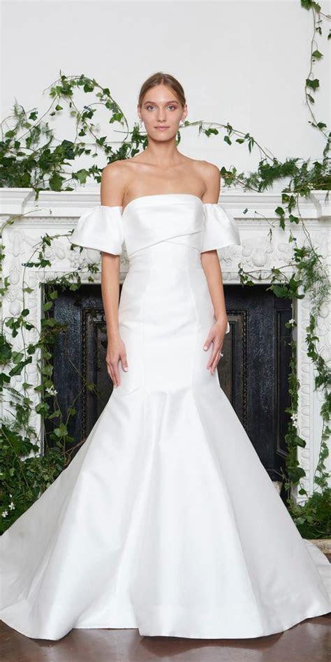 wedding dresses fall 2018 simple mermaid off the shoulder
