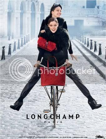 Longchamp Fall 2012 Ads Stars Coco Rocha