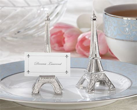 Eiffel Tower Place Card Holder   Parisian Wedding Decor by
