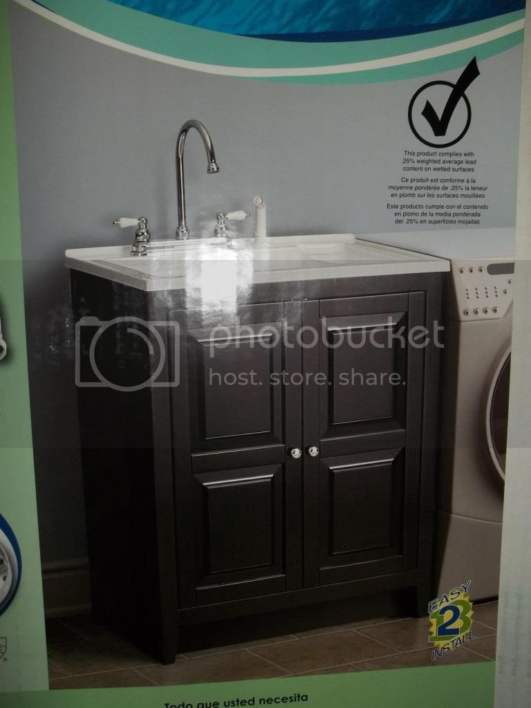 PRICE DROP: Entire deep well utility sink. Cabinet faucet and all