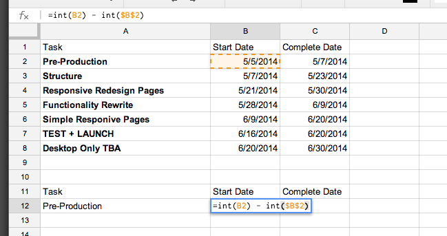 How To Create A Simple Gantt Chart With Google Sheets Hello Techo