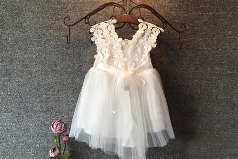 Boho Floral Lace and Tulle Flower Girl Dress ? The Faded