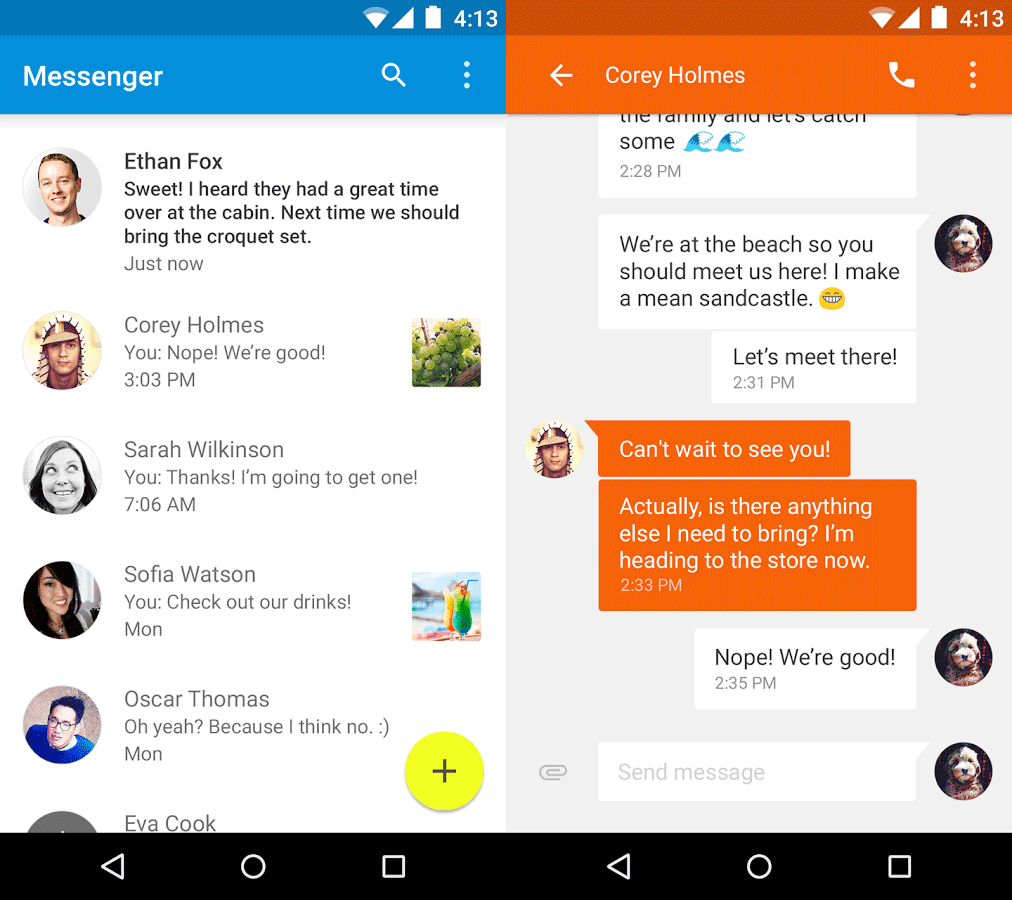 material Google releases Material Design Messenger app for Android