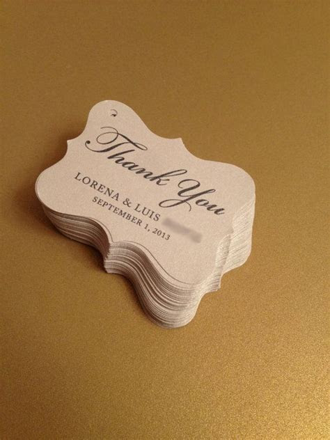 Wedding Favor Tags Party Favor Tags Thank You by