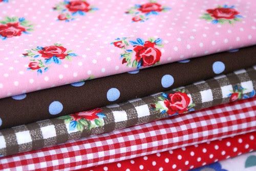 roses, polka dots and checks