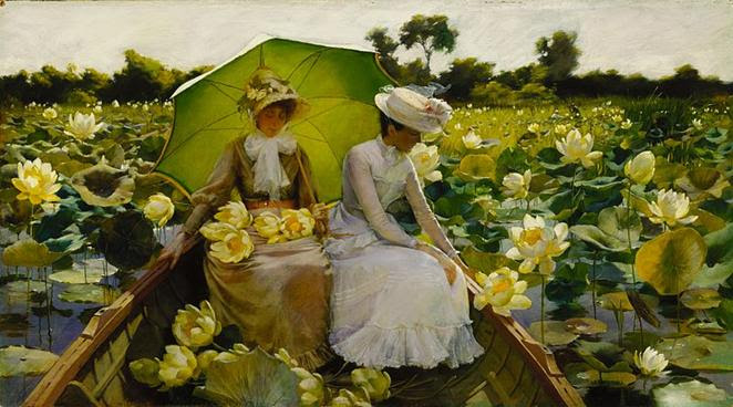 File: Charles Courtney Curran - Lotus Lilies.jpg