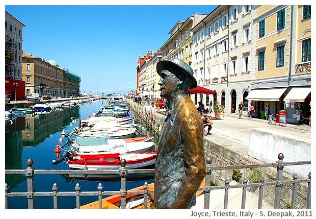 James Joyce on the bridge statue, Trieste Italy - S. Deepak, 2011