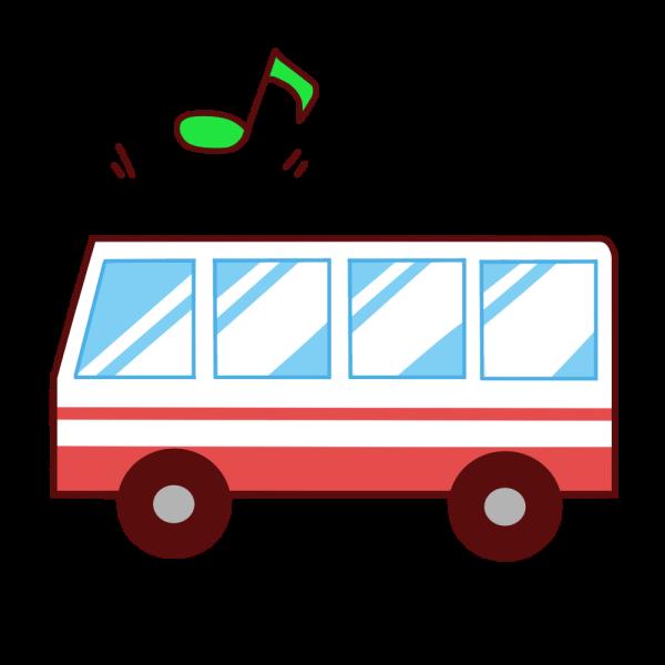 バスツアーのイラスト かわいいフリー素材が無料のイラストレイン