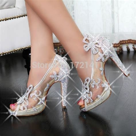 New Designer Women Pumps Crystal Rhinestone Pumps Wedding