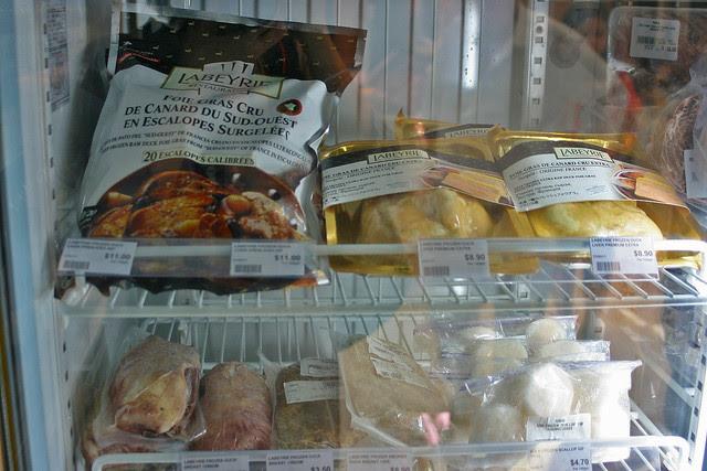 Foie Gras, Smoked Duck Breast and Frozen Scallops