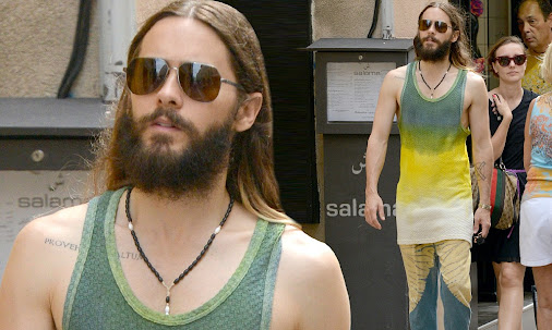 Jared Leto shops in Saint Tropez in a rather quirky ensemble