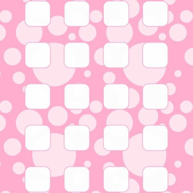 Wallpaper Polkadot Pink Putih