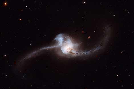Imagen del choque tomada por el Hubble. | NASA / ESA.