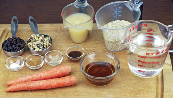 Carrot Cake Oatmeal Ingredients