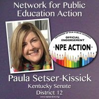 We endorse Paula Setser-Kissik for the state senate of Kentucky, District 12