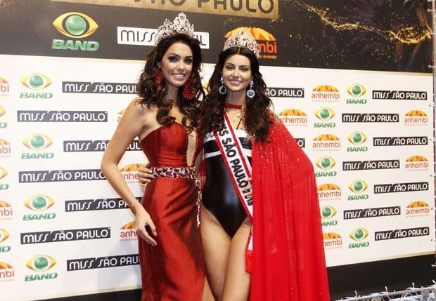 Jéssica e Fernanda Leme, Miss São Paulo 2014 (Foto: Celso Tavares / EGO)