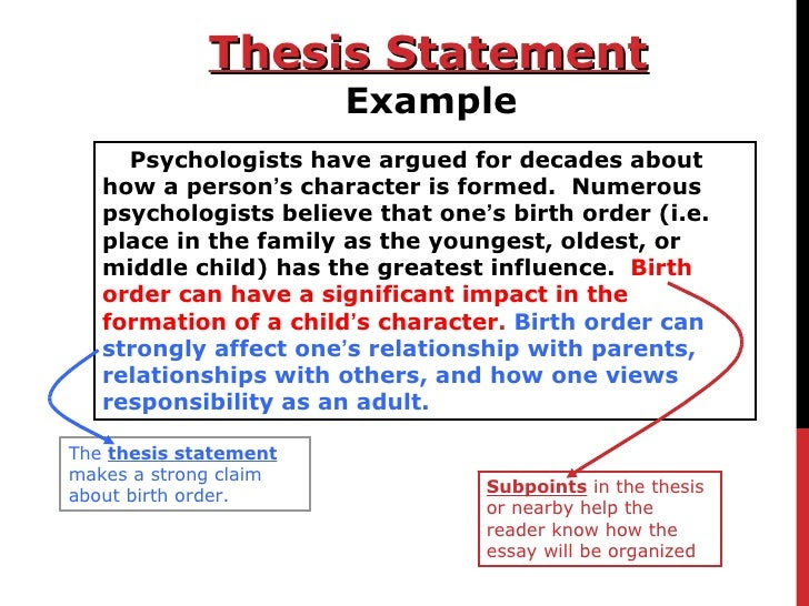 how to make a thesis statement for beginners