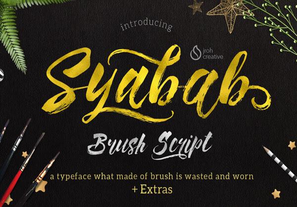 Syabab gratuito Brush Fuente