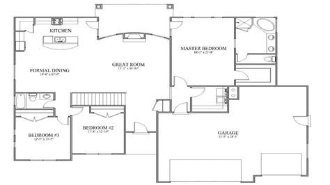 simple house plans  open floor plan simple affordable