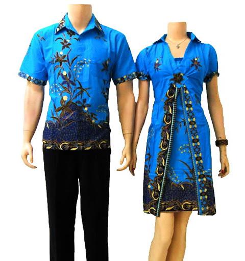 Baju  Batik Couple Modern