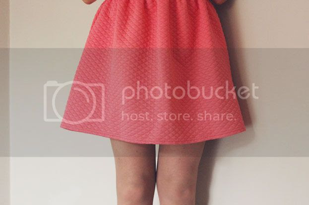quilted skater dress