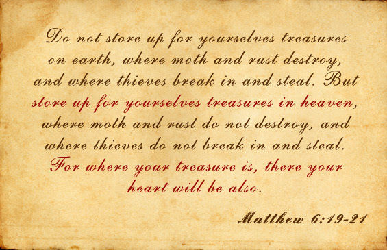 Image result for matthew 6:19-21