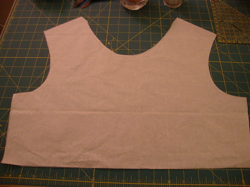 top of front of dress