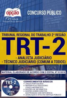 Concurso TRT 2ª Região 2018-ANALISTA JUDICIÁRIO E TÉCNICO JUDICIÁRIO (COMUM A TODOS)