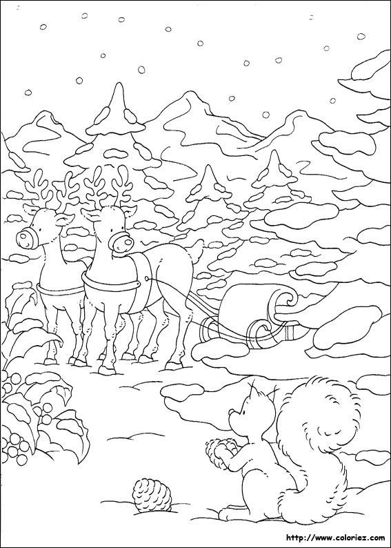 Coloriage Coloriage Dun Paysage De Noël