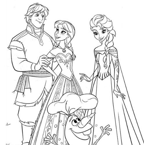 Olaf Happy Birthday Coloring Page - Free Coloring Pages Online