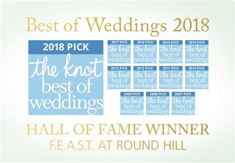 FEAST at Round Hill Wins The Knot Best Of Weddings 2018