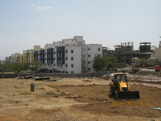 View of RMC Garden, Supreme Aangan & Solacia from the site office of Karia Developers' Konar Meadows, 1 BHK - 2 BHK & 3 BHK Flats at Wagholi on Nagar Road in Pune