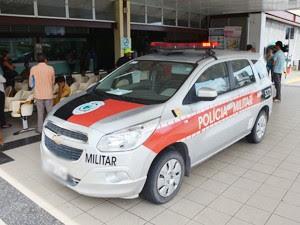 Polícia Militar esteve no Hospital de Trauma de João Pessoa para ouvir testemunhas (Foto: Walter Paparazzo/G1)