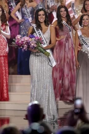 Colombiana Paulina Vega é eleita Miss Universo 2014 em Miami, nos Estados Unidos (Foto: Alexander Tamargo/ Getty Images/ AFP)