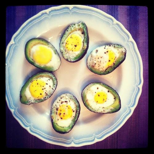Poached Avocado Eggs