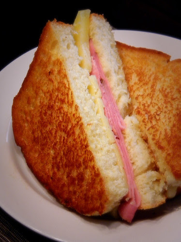 Grilled Ham and Cheese Cut