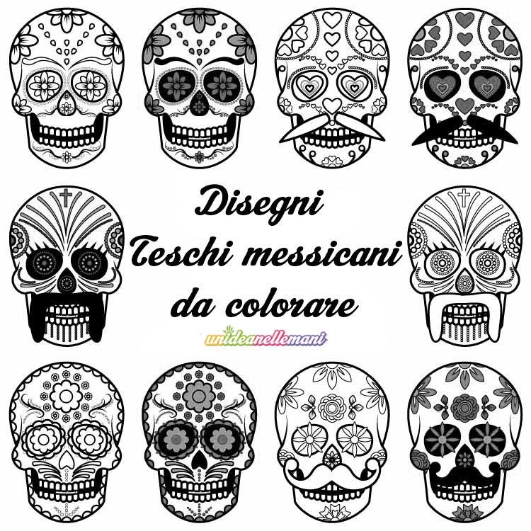 Disegni Teschi Messicani Da Colorare Da Stampare