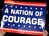 pancarte républicaine du courage national