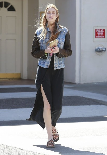 Reality star Whitney Port stopping by a Verizon wireless cell phone store in Beverly Hills, California on April 5, 2014.