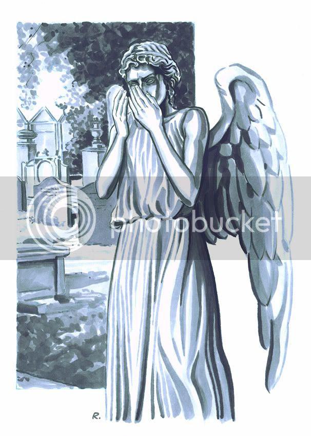 Graeme Neil Reid,Illustration,Doctor Who,Weeping Angel