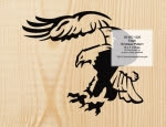 Eagle Scrollsaw Pattern - fee plans from WoodworkersWorkshop® Online Store - eagles,birds,animals,yard art,painting wood crafts,scrollsawing patterns,drawings,plywood,plywoodworking plans,woodworkers projects,workshop blueprints