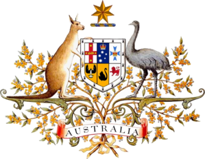The original drawing of the Australian coat of...