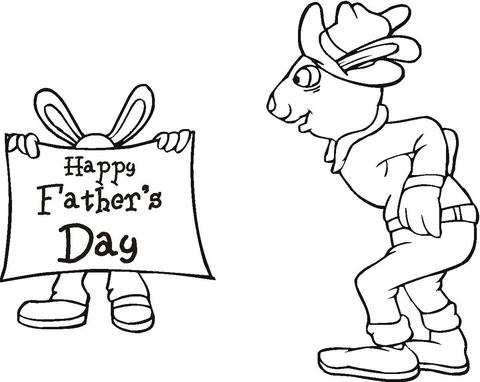 Disegno Di Topi Per La Festa Del Papà Da Colorare Disegni Da
