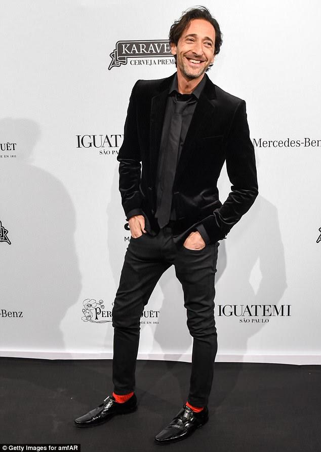 Vencedor do Oscar: Adrien Brody também apareceu no evento