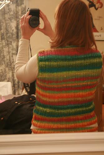 Noro vest back detail