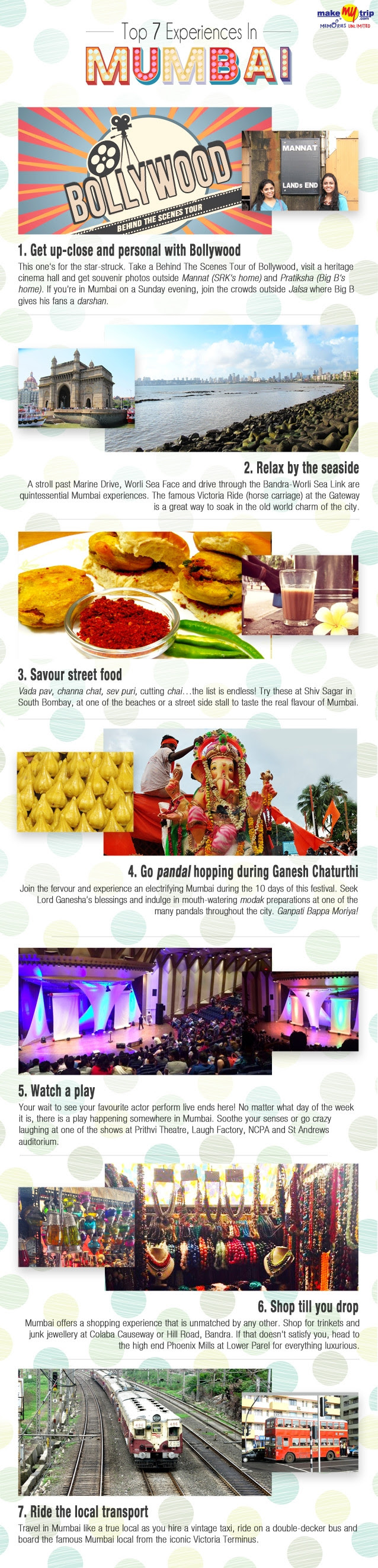 Infographic: Top 7 Experiences In Mumbai #infographic