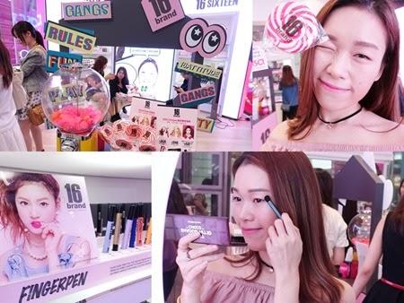 16 Brand 夢幻色彩直擊少女心╰(✧∇✧╰)  pop up store 韓國化妝師駐場